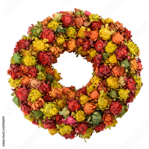 Dried saffron wreath