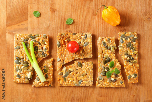 Pumpkin seed cheese crackers