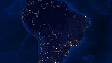 Central South America - Night - 02