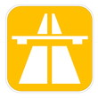 Yellow highway icon