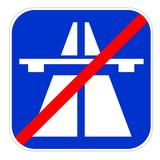 European highway end icon