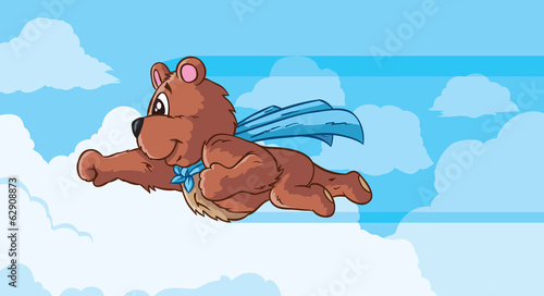 Flying bear, part of a series.