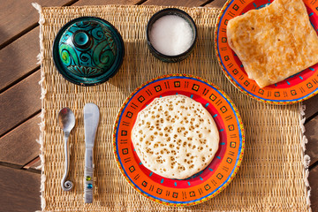 Typical moroccan breakfast