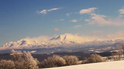 真冬の大雪山連峰