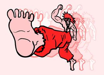 Kick man