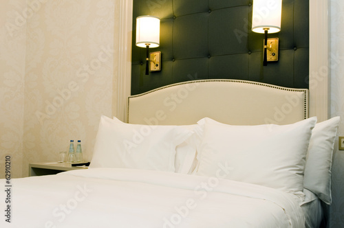 luxury room bedroom set on location in Warsaw Poland Europe