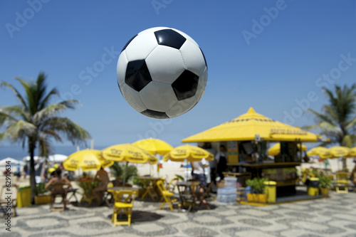 Football Soccer Ball Ipanema Beach Rio Brazil