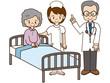 高齢女性の入院