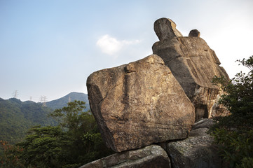 Amah Rock in Lion Rock country park, Hong Kong