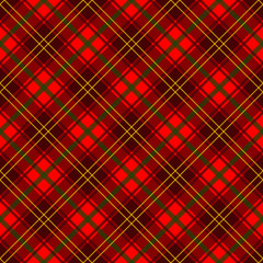Traditional Red Plaid Pattern