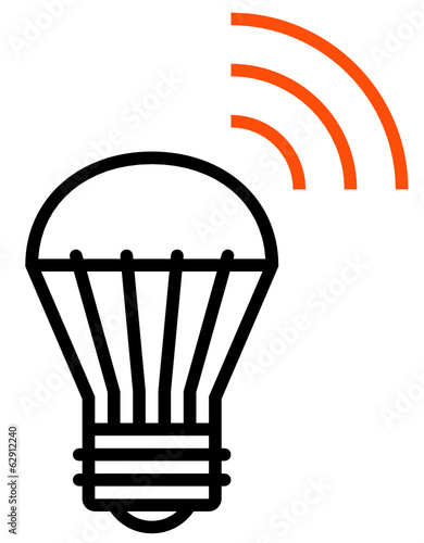 Wireless LED light vector icon