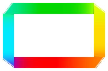 Gökkuşağı Renkli Şerit Çerçeve