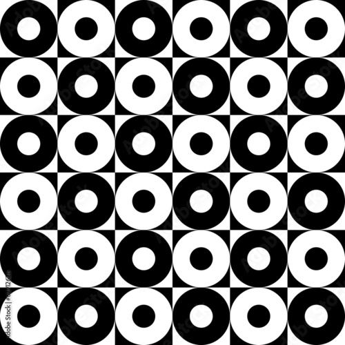 Monochrome Seamless Circles Pattern