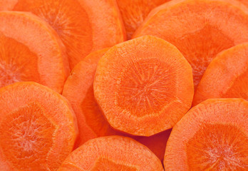 Carrot vegetable round background
