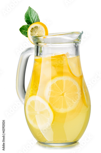 Leinwandbild Motiv Lemonade pitcher