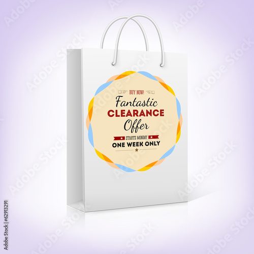 Paper shopping bag with bright pattern fantastic offer, buy now.