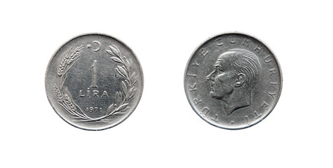 Coin 1 lira. Turkey