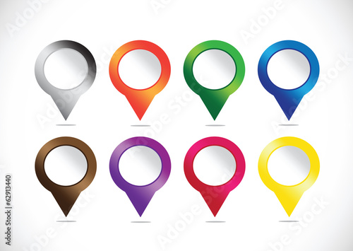 map pointers mapping pins icon