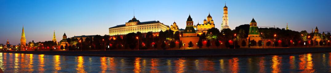 Moscow Kremlin in summer night. Russia