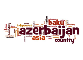 Azerbaijan word cloud