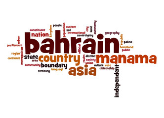 Bahrain word cloud