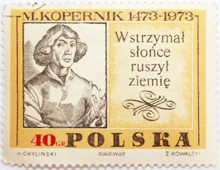 Николай Коперник. Почтовая марка. Польша