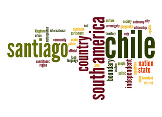 Chile word cloud