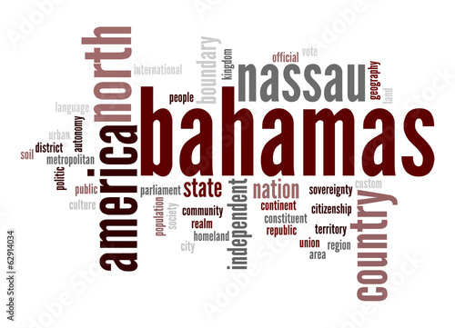 Bahamas word cloud