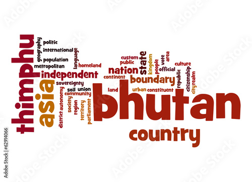 Bhutan word cloud