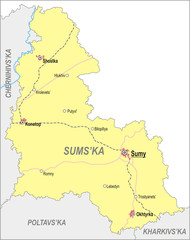 Map of Sumy Oblast