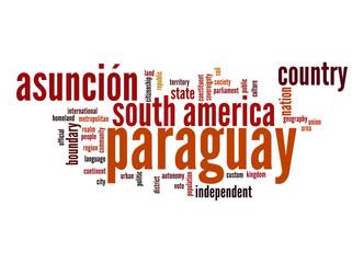 Paraguay word cloud