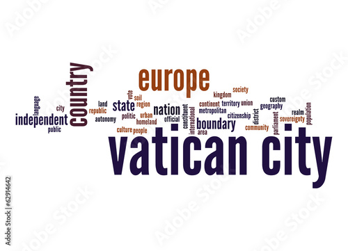 Vatican City word cloud