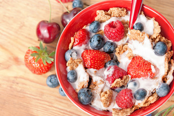 Cereals with berry