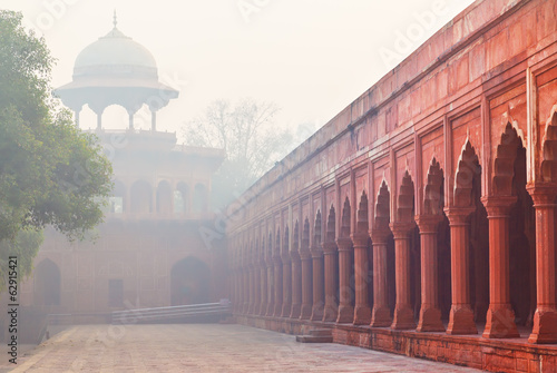 Architecture of Charbagh, or Mughal Garden in Agra, India