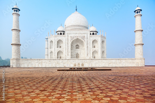 Taj Mahal in India, front view