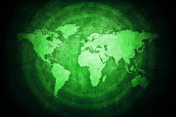 Green World Map