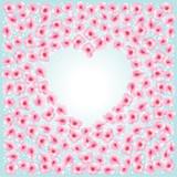 Flowers heart frame