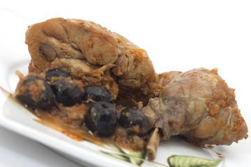 coniglio con olive