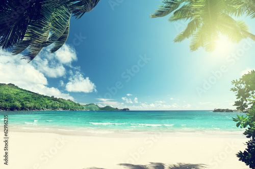 beach Takamaka, Mahe island, Seychelles © Iakov Kalinin