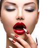 Fashion Beauty Sexy Model Girl. Manicure and Make-up