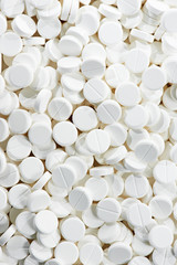white round medicine tablet antibiotic pills