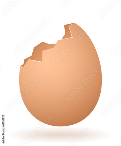 vector cartoon broken egg