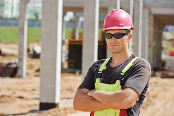 site manager at construction area