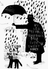Мужчина с зонтиком
