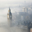 canvas print picture - Heavy fog hits London