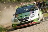 Fotoroleta Rally car in action, Škoda Fabia S2000