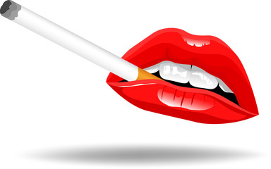 Lips and Smoke Vector