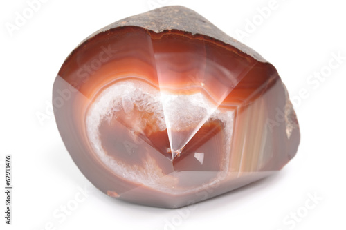 agate mineral with unique cut
