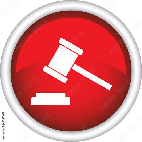 Круглая векторная иконка с изображением молотка