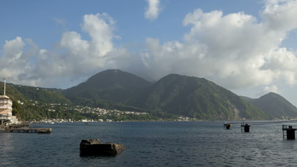 Clouds over Hills on Dominica Roseau